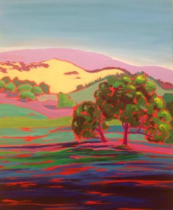 Santa Rosa Plateau, Acrylic on Canvas, 16x20 Private Collection Temecula