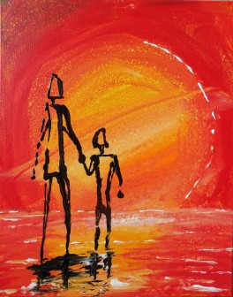 Acrylic on Canvas _Story People