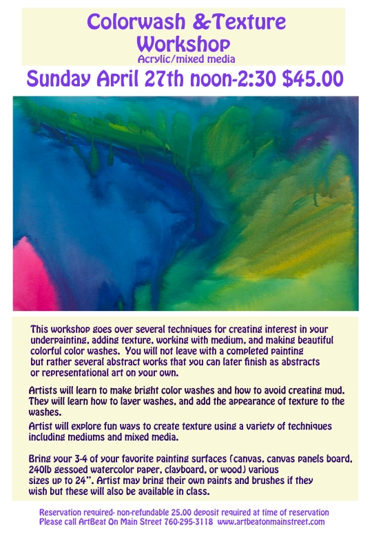 New Workshop at Artbeat