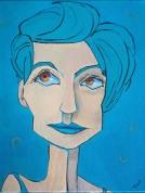 Aqua Blue, Spectrum Series, 11x14, framed $160