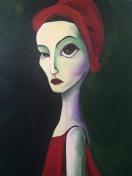 Mirth, Acrylic on Canvas $750 Framed