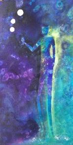 The Toast, Acrylic on Canvas, 12x24, $195
