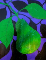 California Avocado at Dusk, Acrylic on Dusk, 16x20, $250