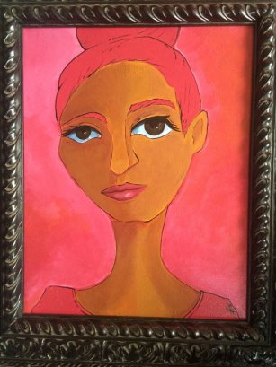 Persian Pink, From Spectrum Series, 11x14 Framed, $160.