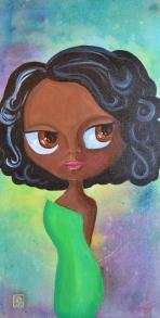 Bella, Acrylic on Canvas, 12x24, $375