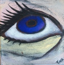 Mini Canvas, Blue Eye, Gallery Wrapped Canvas, $30 on Etsy
