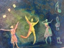 Life is a Dance, Mixed media on Canvas, Private Collection, Brea, CA