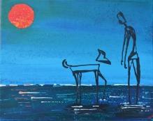 My Wet Dog, Acrylic on Canvas, 16x20, $160