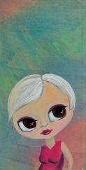 Edie, Acrylic on wood panel, 12x24 $375