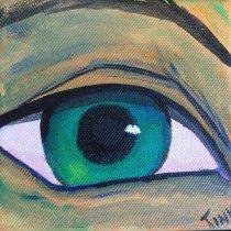 Mini Canvas, 4x4 Acrylic on gallery canvas, $30 on Etsy.