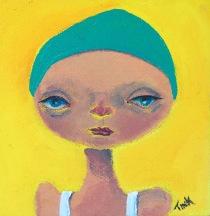 Mini Canvas #1, 4x4 in. $35 at Artbeat