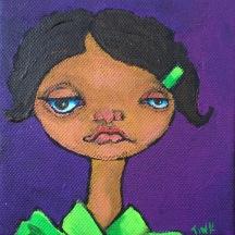 Tiny Canvas #2, 4x4, $35 at Artbeat