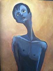 The Saint, Mixed Media on Canvas $650 Framed