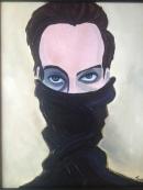 Sean Acrylic on Canvas Framed, $500
