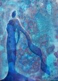 Steady Onward, framed, 9x12, Acrylic on Canvas, $225