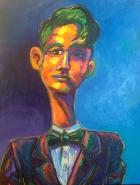 An Ear for Jazz, Acrylic on Canvas, $360 at Artbeat