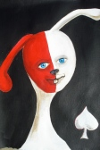 Lucky Bunny, Acrylic, Private Collection, Menifee, CA
