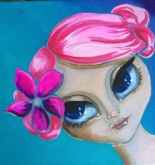 Amanda acrylic on 12x12 canvas, $70 on Etsy