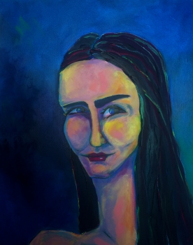 An Unexpected Smile, Acrylic on Canvas, $360 at Artbeat, in Vista.