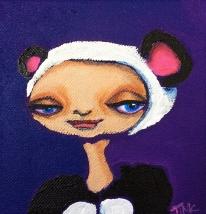 Tiny Canvas #3, 4x4, $35 at Artbeat