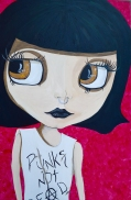 Punks not Dead, Acrylic on Canvas at Pilapil Gallery