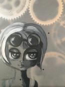 Steampunk Girly, 8x24 $95